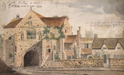 The old abbey gatehouse at Radford by Worksop, as it is now. 1774